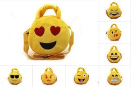Emoji Plüschtaschen Cartoon Kinder Münztüte 19cm Nette Emoji Kinder Handtaschen Runde Emoji Snack Taschen Weihnachtsgeschenk von Fabrikanten