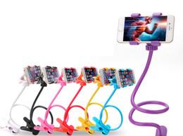 2019 telefono cellulare di sostegno di plastica Staffa universale per il telefono mobile 8 colori multifunzione 360 giri del lato del letto del telefono mobile Staffa