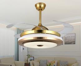 2019 deckenventilatoren modern zeitgenössisch 42 zoll moderne unsichtbare led deckenleuchten leuchten 110 v 220 v acryl blatt led deckenventilator licht kit mit fernbedienung für wohnzimmer
