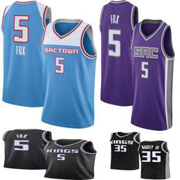 4e319594838a 2019 Men s De Aaron 5 Fox jersey Marvin 35 Bagley III Jason 55 Williams jerseys  basketball jersey fox l for sale
