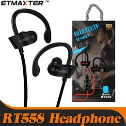 2019 iphone bluetooth headphones Экономически эффективные наушники RT558 Sweatproof спортивные наушники Беспроводные Bluetooth наушники для iPhone X XS Max 7 8 Samsung Galaxy note 9
