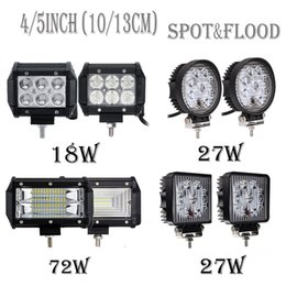 Riflettore 4x4 online-2 pezzi 4/5 pollici Offroad LED Light Bar Flood Spot Combo Beam Spotlight 12V per ATV UAZ SUV 4WD 4x4 Truck Truck LED Luce di lavoro