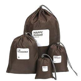 2019 bolsas al por mayor ventana marrón 4pcs gran cosa / Bolsas de almacenamiento de gran cantidad de zapatos impermeables para viajes de lavandería de la ropa interior del maquillaje de la bolsa para la ropa interior de cosméticos Organizador Multi-p