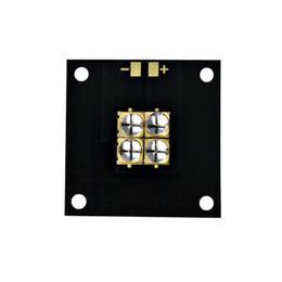 Colla pcb online-40w ad alta potenza modulo led UV rame scheda Pcb Substrate 40 * 40mm 6565 365nm 370nm 380nm 385nm 395nm 400nm 405nm colla UV fotosensibile Resimo