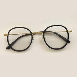 406663ed6b6 New Round Clear Lens Glasses Retro 2019 Metal Frame Eyeglasses Alloy Glasses  Frames Men Women Optical Transparent