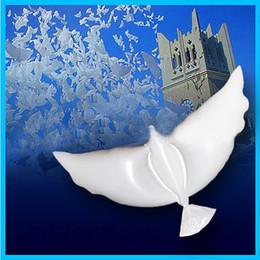 2019 голубь Белый Голубь Воздушные шары Свадьба украшения Летающий мир Dove мира Птица брак Гелий шар Невеста и жених Decor дешево голубь