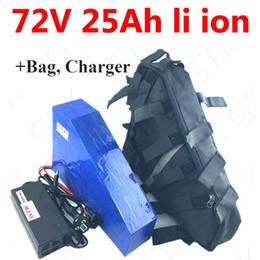 Canada Batterie de triangle 72 V 25ah au lithium-ion Batterie 72V 25ah li 18650 BMS pour 3000w 3500w Motorcyle E vélo vélo + 5A chargeur sac cheap e scooter battery charger Offre