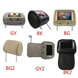 carro rádio gps wifi hyundai Desconto Universal 7 polegadas dvd player do carro tela de LED Car MP5 Headrest monitor de Apoio AV / USB / SD