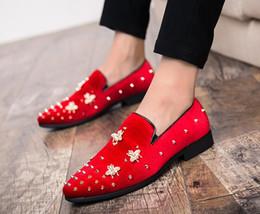 Yeni Erkekler Kadife perçin Loafer'lar Parti düğün Ayakkabı Avrupa Tarzı siyah / yeşil Kadife Terlik Sürüş moccasins G5.50 supplier shoes new style europe nereden ayakkabı yeni stil avrupa tedarikçiler
