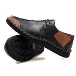 scarpe da sole morbide nere Sconti Scarpe da uomo fatte a mano con marea nere mocassini marroni bordeaux marroni in pelle antiscivolo in gomma moda suola moda casual da uomo