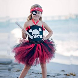 clothing for pirates Coupons - Pirate Girl Dress Up Cosplay Costume For Kids Fantasia Halloween Party Dresses Children Clothing Fancy Sleeping Beauty Dress XXL