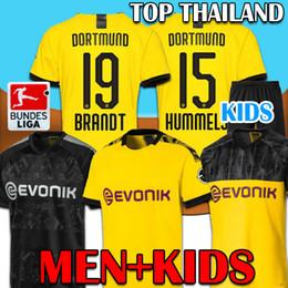 2019 futebol de borussia Men + KIDS 19 20 BVB Borussia Dortmund Futebol REUS SANCHO camisa de futebol PERIGO Witsel Götze BRANDT kits 2019 2020 SCHULZ Meninos futebol de borussia barato