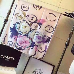 Stampa di seta di bandana online-Sciarpa di marca sciarpa di seta di modo di estate sottile sottile scialle delle donne r bandana classico stampato scialle di seta di marca 190 * 80 cm