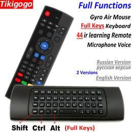 Micrófono ruso online-Tk3 Micrófono Voz Aire Ratón Teclado Inalámbrico Ruso Inglés Ir Aprendizaje Para Android Smart Tv Box Pk Mx3 T3 Control Remoto J190523