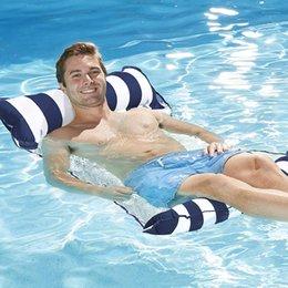 sagome di poltrone usate Sconti Amaca gonfiabile 4-in-1 della sella della sedia di salotto dell'amaca dell'acqua del drifter galleggiante portatile del partito di estate di galleggiamento DEC527