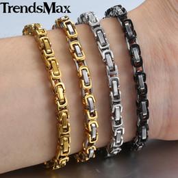 """braceletes de ouro branco 24k Desconto Bracelet Gold Silver Stainless Steel bizantina Fazer a ligação Pulseiras Cadeia Femininos 5 milímetros 2018 Homens Fashion Jóias Hip Hop 7-11"""" KBB6"""