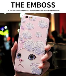 Le copertine posteriori del telefono mobile sveglio online-Cute Cat Cartoon stampato morbido TPU cover posteriore per iPhone X XS XR Max Mobile Phone Shell custodie per iPhone 5 5S SE 6 6S 7 8 Plus