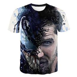 2020 camisa super herói feminino Nova Moda Homens / Mulher Popular filme Venom Superhero Engraçado 3D Impressão T-Shirt Casual Manga Curta Engraçado T Shirt Tees Tops T-shirt BB104 desconto camisa super herói feminino