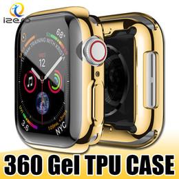 Para Apple Watch Series 4 40mm 44mm Gel Estuche de reloj galvanizado galvanizado Protector de cubierta de reloj completamente cubierto para iWatch 4 desde fabricantes