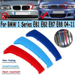 prado aufkleber Rabatt Sport-Art-Grill-Grill-Abdeckclip-Ordnung des Aufkleber-3D für BMW 1er Reihe E81 E82 E87 E88 2004 2005 2007 2008 2009 2010