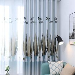 2019 piuma di pavone giallo Room Printing Valances Voile Door Window Curtain Panel Divider Sheer Curtain for Bedroom Kitchen Panel Door Sheer