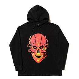 Sweat à capuche tête de mort hip hop en Ligne-Crâne sweat à capuche Hommes Femmes Vestes Pull Survêtement Hip hop Streetwear Harajuku Marque d'hiver Manteau Sport Hooded Mode 2019