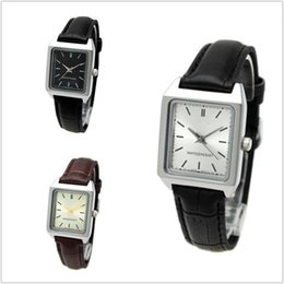 Квадратные черные поясные часы онлайн-Small Black Table Retro Female Watch Belt Full Black Brown Plus White No Number Small Square Table Female Watch