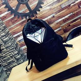 sacos de escola para meninas Desconto Moda Geométrica Laser Escola Bags Para Adolescentes Meninas Livro Saco de Lona Mulheres Mochila Mochilas Para Adolescente Faculdade Preto 2019 SH190806