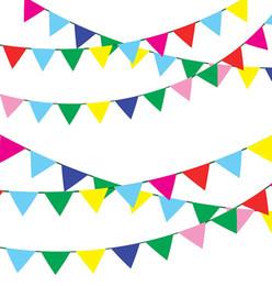 drapeau en nylon Promotion Bannière de drapeau de ficelle multicolore de fanion de 750 pi de bannière, drapeaux de fanion de tissu en nylon 600Pcs pour la grande ouverture, décorations de festivals de fête