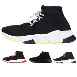 balenciaga scarpe da uomo firmate Star Brand Speed Trainer Nero Rosso Triple Nero Moda Calze Stivali uomo scarpe Sneaker Trainer des chaussures
