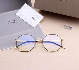 Occhiali da donna lente chiara online-[Con Box] Light Blue Occhiali da Donne obiettivo chiaro Sport Occhiali da sole degli uomini degli occhiali Lentes Womens Sun Eye Glass Sunglass SGC082