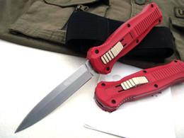 2019 coltello in tasca in alluminio Manico nero in lega di alluminio rosso BM3300 BM3350 Coltello pieghevole tattico campeggio B01 A07 162 Coltello da caccia EDC coltello da tasca sopravvivenza coltello in tasca in alluminio economici