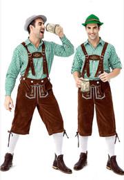 2020 trajes de oktoberfest hombres Vestuario cerveza Tirantes Traje de ropa de lujo de la venta caliente 2019 Nueva alemán tradicional Oktoberfest ropa camisa de tela escocesa de los hombres trajes de oktoberfest hombres baratos