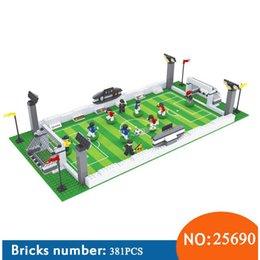 Canada AUSINI NOUVEAU 25690 Maquettes modèles de ville de football série 199 Blocs 3D Modèle éducatif jouets de construction loisirs pour enfants Offre