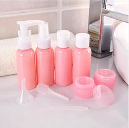 2020 kit de viaje botella de plástico Paquete de Botellas de viaje rellenables Cosméticos Botellas Presión de plástico Botella de aerosol Kit de herramientas de maquillaje para el vaporizador de viaje P2 kit de viaje botella de plástico baratos