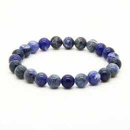 Perles aqua en gros en Ligne-Vente en gros pas cher 10pcs / lot mélanger les couleurs 8mm Aqua Terra Jasper, Bronzite, veines bleues, bracelets d'énergie de perles de Pierre Rutilated