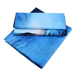 3 pcs gêmeo queen size edredon de poliéster colcha capa 2 fronha fronhas azul roupa de cama capa de edredão de
