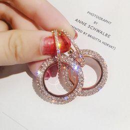 Mode coréenne ronde élégante boucles d'oreilles à la main grosse ronde boucles d'oreilles cercle cercle géométrique Dangle boucle d'oreille pour les bijoux des femmes ? partir de fabricateur