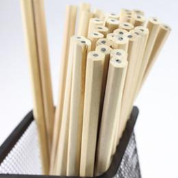 artigos de papelaria de madeira Desconto Eco-friendly Lápis de Madeira Natural HB Em Branco Hexagonal Não-tóxico Padrão Lápis Bonito Material Escolar Escritório Papelaria