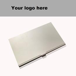 Cartas de negocios online-Titular de la tarjeta de la aleación Paquete delgado Caja de maleta de negocios Tarjeta de identificación Tarjeta de identificación de negocios Titulares de tarjetas de crédito