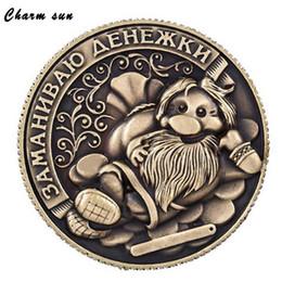 Monedas de penique al por mayor online-Venta al por mayor- Rusia Monedas Monedas sin moneda Adornos Monedas de copia retro Monedas coleccionables Moneda Feng Shui Decoración para el hogar