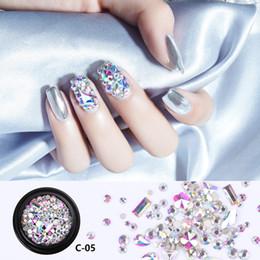 Canada 1 boîte Mixte Cristal Strass Caviar Perles Multi-Taille 3D Nail Art Décorations Bijoux DIY Charme Manucure De Mode Tempête Accessoire Offre