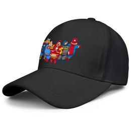 Superman chapéu preto on-line-Batman Thor Homem-Aranha Homem de Ferro superman memória black mens e womens chapéu de pesca ajustável chapéu de beisebol personalizar o seu próprio visor Alto Bu