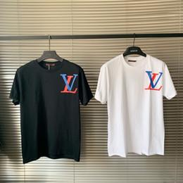 19ss Neue luxuriöse Markendesignfarbe blockierte großes Logodruck-T-Shirt Männer Frauen arbeiten beiläufige Baumwollstreetwear-Sweatshirts im Freienhemden um von Fabrikanten