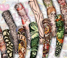 2019 tatuagem de manga braço projeta homens 12 pcs Mix Frete Grátis Elastic Falso Tatuagem Temporária Manga 3d Art Designs Body Arm Leg Meias Tatoo Legal Das Mulheres Dos Homens desconto tatuagem de manga braço projeta homens
