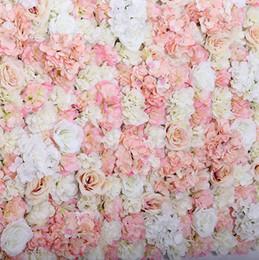 Canada FLEUR ARTIFICIELLE MURALE 60X40CM ROSE HYDRANGEA PANNEAU DE MARIAGE ARRIÈRE-PLAN DE FOND POUR Fournitures de décoration de noce Offre