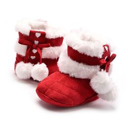 Вязание крючком снег сапоги младенцы онлайн-Fashion Winter Toddler Infants Warm Soft Sole Snow Boot Crochet Knit Fleece Baby Shoes For Boys Girls