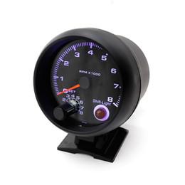 """Contagiri 3 3/4 """"Colore nero 0-8000 giri / min con luce inter-cambio Contatore blu per auto Contatore da corsa da"""