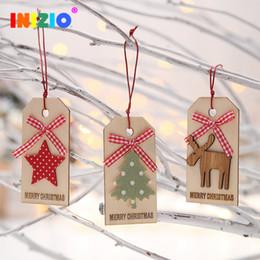 caixas de natal ornamentos atacado Desconto Decorações De Natal Para Casa De Árvore De Natal Decoração De Madeira Pequena árvore