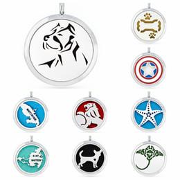 Морские собаки онлайн-с 10 колодки 30 мм щит Лев собака кости Морская звезда магнитные духи медальон ароматерапия эфирное масло диффузор кулон